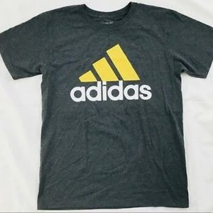 Adidas The Go To Tee Cotton Shirt Gray Gold CA9837